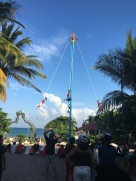 30 ft pole that the dancers swing off the top from ropes